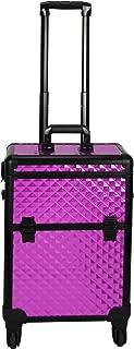 Sunrise C6301 4-Wheels Professional Rolling Aluminum Cosmetic Makeup Case, Purple Diamond, 14 Pound