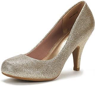Arpel Women's Formal Evening Dance Rhinestones Classic Low Heel Pumps Shoes New