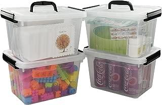 Kekow 6-Liter Clear Storage Latch Box, 4-Pack