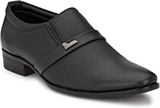 Levanse Men's Formal Synthetic Leather Black Shoes