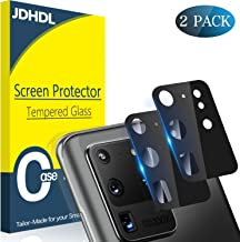 JDHDL [2 Pack] Galaxy S20 Ultra 5G Camera Lens Protector, Tempered Glass 9H Hardness 3D Edge Anti Scratch Camera Protector, [Case Friendly] [Dust-proof] [No-Bubble] [New Version 2020] [6.9 Inch]