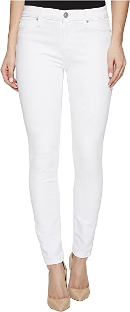 Hudson Nico Mid-Rise Ankle Super Skinny Jeans in Optical White