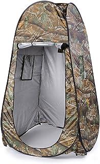 Ny bärbar integritet dusch toalett camping pop up tält sminktält/fotografi tält kamouflage/UV-funktion utomhus aluminium