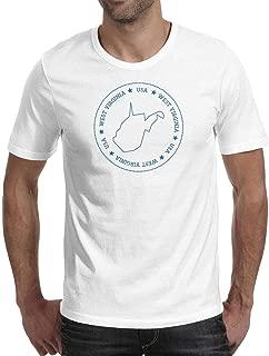 West Virginia State Outline Mens Tshirts Design O-Neck Short Sleeve T Shirts Vintage T Shirt for Men