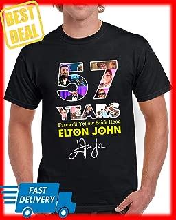 57 Years Farewell Yellow Brick Road Elton John signature Customized Handmade T-shirt For Men Women