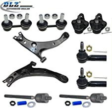 10 Pcs Front Suspension Kit-Lower Control Arm Ball Joint Outer Inner Tie Rod End Sway bar Compatible with Toyota Corolla 96-02 Replacement for Chevy Prizm 98-02 Compatible with Geo Prizm 1996-1997