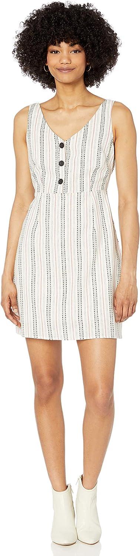 cupcakes and cashmere Women's Azelia Cotton Linen Stripe Dress