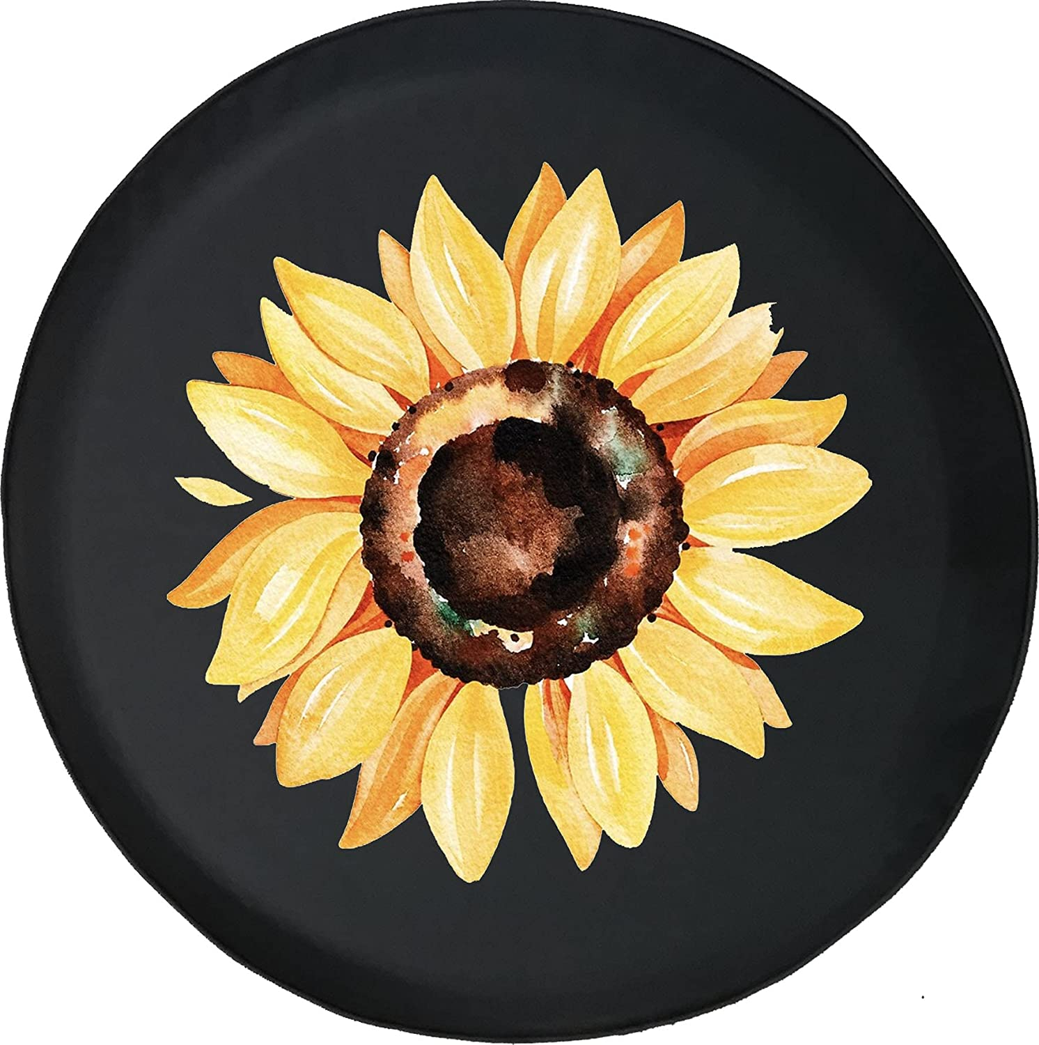 Painted Sunflower Fits Max 54% OFF SUV or RV Spare Trailer Max 83% OFF Accessories Tire