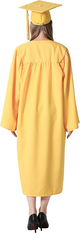 GraduationMall Matte Graduation Gown Cap Tassel Set 2020 for High School and Bachelor