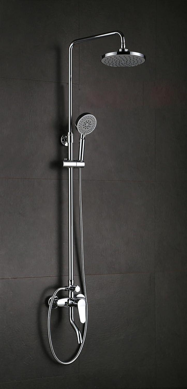 KHSKX Solid brass round shower head hotel shower kits simple shower shower set shower faucets
