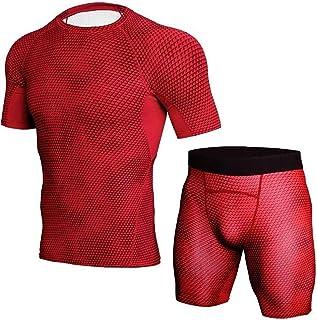 LLTT Autumn Fitness Thermal Underwear Men Stretch Anti-microbial Warm Male Thermo Underwear Set Bodysuit Elasticity (Color...