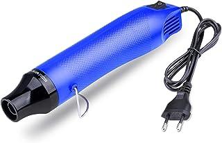 NOUVCOO Mini Pistola de Aire Caliente, Pistola Calor Portátil 300W, Profesional herramienta de calefacción eléctrica multifunción de mano - Azul