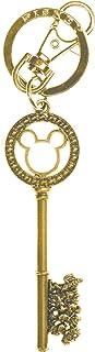 Disney Gold Master Key with Gem Beads Pewter Key Ring