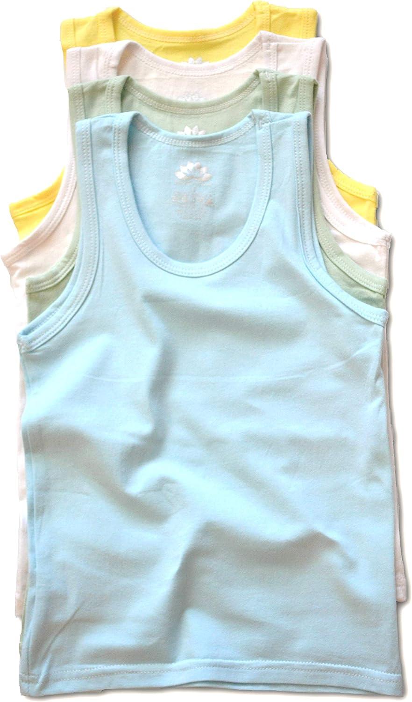LotusComfort Premium 4 Pack Super Soft Boys Girls Unisex Tagless Toddler Baby Tank Top Undershirts