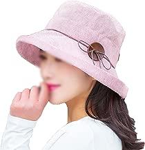 Heart .Attack Lady Summer Hat Stripe Crimping Hat Sunscreen Fisherman Hat Visor Hat Cotton Cloth Cap