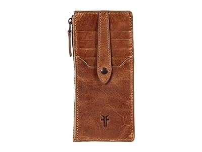 Frye Melissa Snap Card Wallet (Beige) Handbags