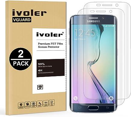 c4374f29754 iVoler [2 Unidades] Protector de Pantalla para Samsung Galaxy S6 Edge Plus,  [