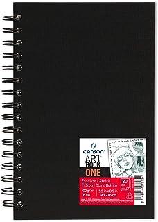 Canson Art Book One Papier à dessin 80 feuilles 14 x 21,6 cm Blanc