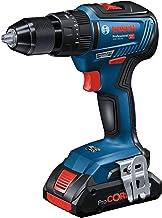 Bosch Professional 06019H5302 GSB 18V-55-Taladro percutor (18V, 55 NM, sin batería, en Caja), 18 V, Azul