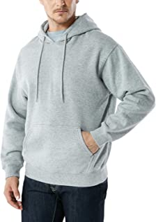 TSLA Men's Active Sweatshirt Fleece Performance Cotton Mix Hoodie