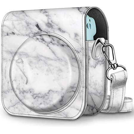 Sofortbildkameras Tasche Kompatibel mit Instax Mini 11,Tasche Camera Case,Kameratasche aus weichem Leder,mit abnehmbarem Schultergurt Blau Anti-Drop und Kratzer