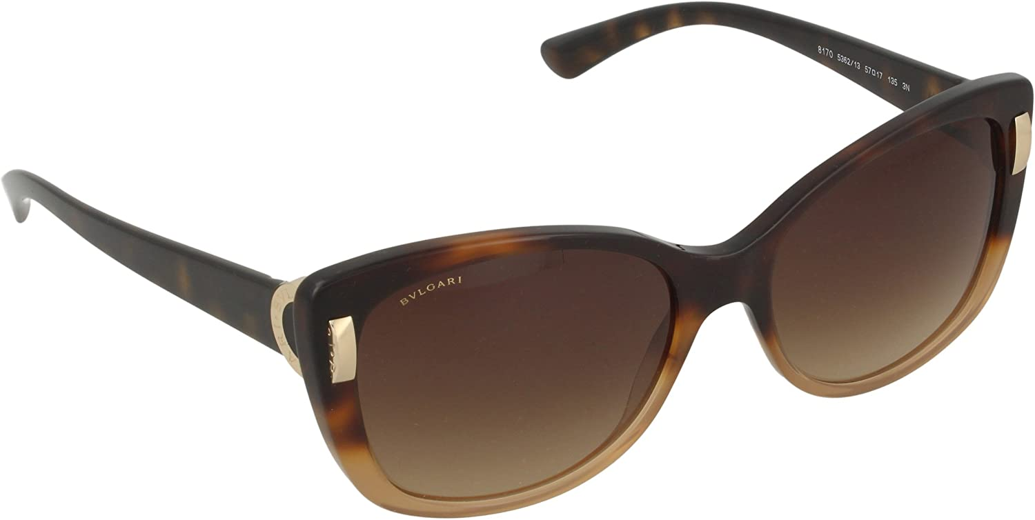 Bvlgari BV8170 5018G 57mm Sunglasses  Size  5717135  color  Dark Brown Shaded