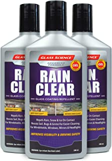 Rain Clear Windshield Water Repellent Gel 3 pack from Glass Science