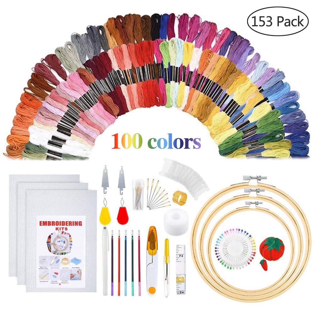 Embroidery Starter Kit Including Instructions