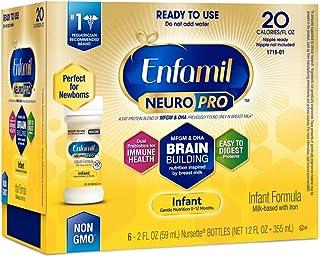 Enfamil NeuroPro Infant Formula - Brain Building Nutrition Inspired by Breast Milk - Ready to Use Liquid, 2 fl oz (6 count)
