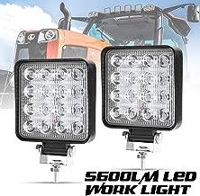Liteway 2Pcs LED Work Light - 4 Inch 80W Flood LED Light Bar for Tractor Offroad 4WD Truck ATV UTV SUV Driving Lamp Daytime Running Light, 5 Years Warranty