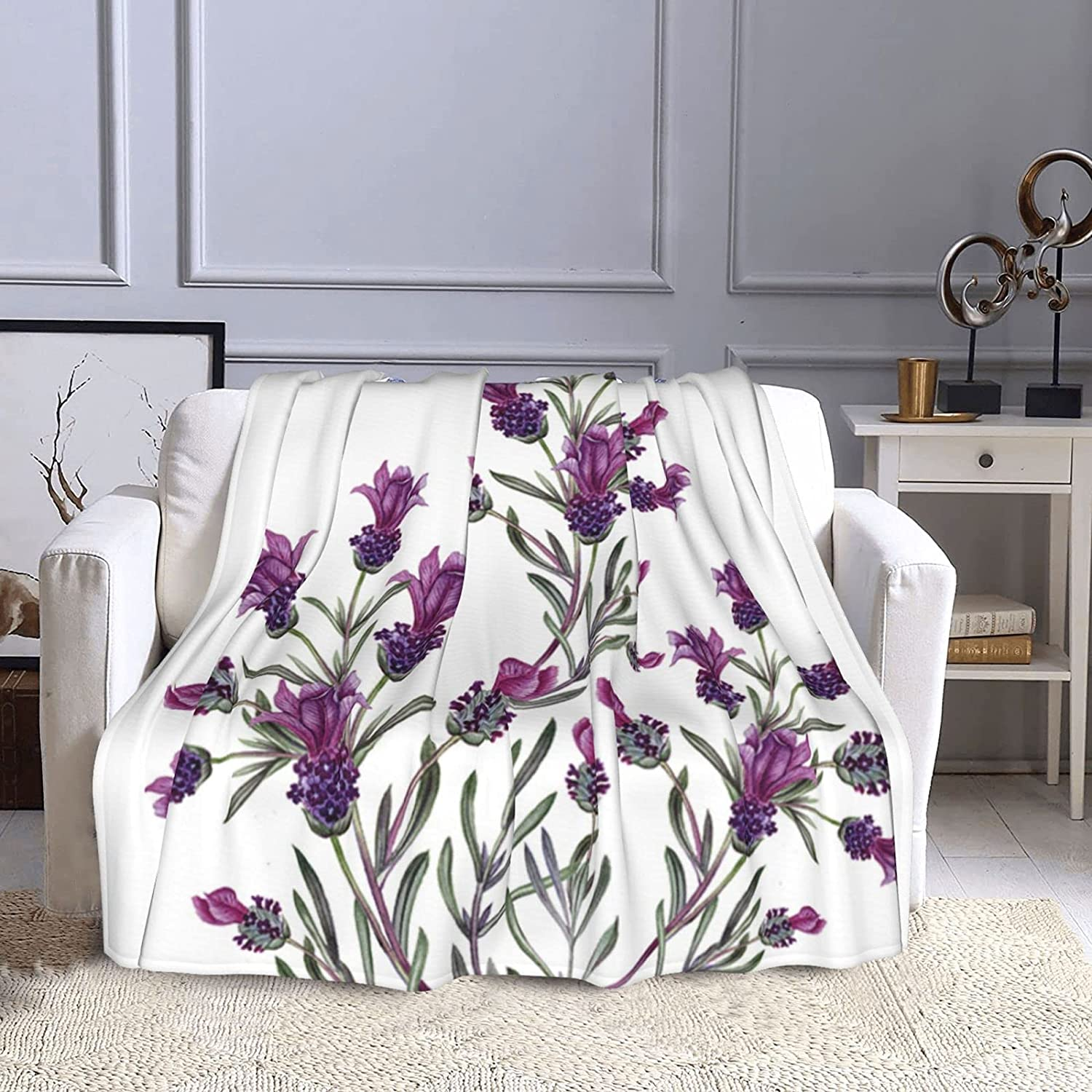 Watercolor Purple Flower Popular standard Big Lavender Branch Quality inspection Nature Aromatherapy