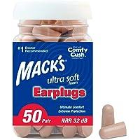 50-Pair Mack's Ultra Soft Foam Earplugs (32dB NRR)