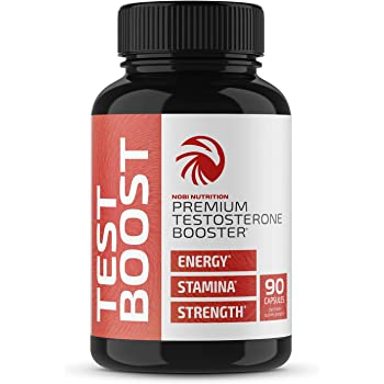 Nobi Nutrition Premium Testosterone Booster for Men - Male Enhancing Pills - Enlargement Supplement - Increase Size, Strength and Stamina - Energy, Fat Burner, Endurance Test Boost - 90 Capsules