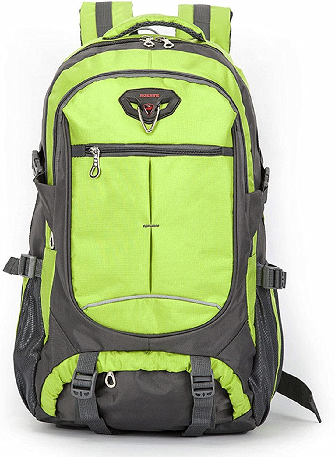 Backpacks Durable Wild Camping Travel by Walking Leisure Sport Neutral Men and Women Student Computer Bag Suitable Waterproof Mountaineering Bag (color   Green)