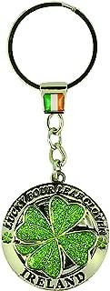 Gift From Ireland Spinner Keyring-Green Clover