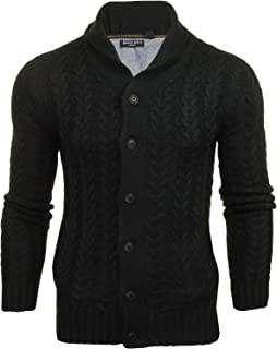 Brave Soul 'Schematic' Button Through Cardigan - All Over Knit Detail