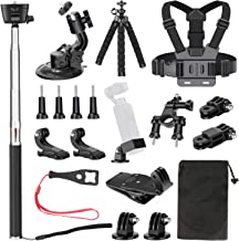 Neewer 20-in-1 Expansion Accessory Kit for DJI Osmo Pocket Handheld Camera: Chest Strap, Bike Mount, Backpack Clip, Flexible Tripod, Car Suction Cup, Selfie Stick for Skiing Skating Running Bicycling