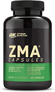 Optimum Nutrition ZMA Zinc for Immune Support, Muscle Recovery and Endurance Supplement for Men and Women, Zinc and Magnes...