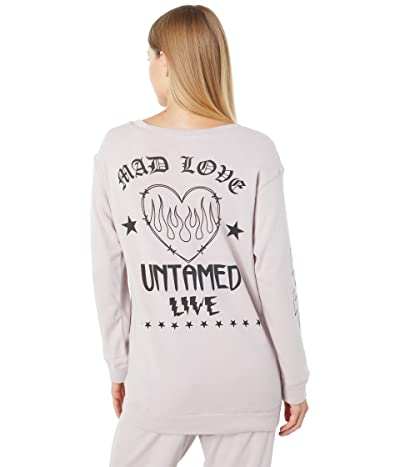 Chaser Flaming Heart Cotton Fleece High-Low Pullover