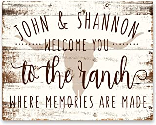Best welcome to the ranch metal sign Reviews