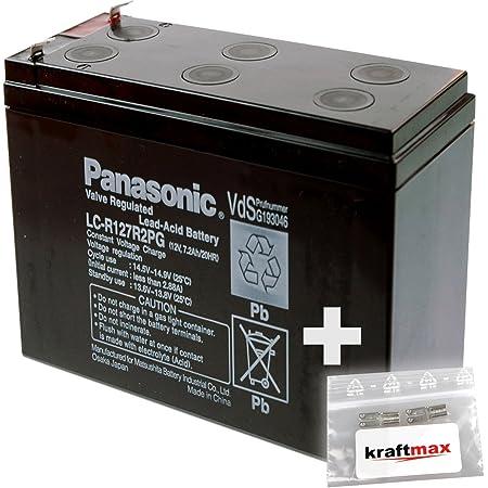 1x Panasonic 12v 7 2ah Agm Blei Akku Lc R127r2pg Elektronik