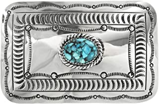 Turquoise Belt Buckle Best Selling Navajo Accessory 0870