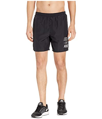 Nike Challenger Shorts 7 BF Graphics (Black/White) Men