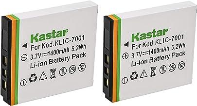 Kastar Battery (2-Pack) for Kodak KLIC-7001 and Kodak EasyShare M320, M340, M341, M753 Zoom, M763, M853 Zoom, M863, M893 i...