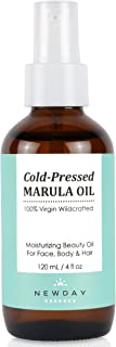 Marula Oil 100% Pure Virgin (4 oz Large) Cold Pressed Unrefined Moisturizer for Face, Skin, Hair and Nail