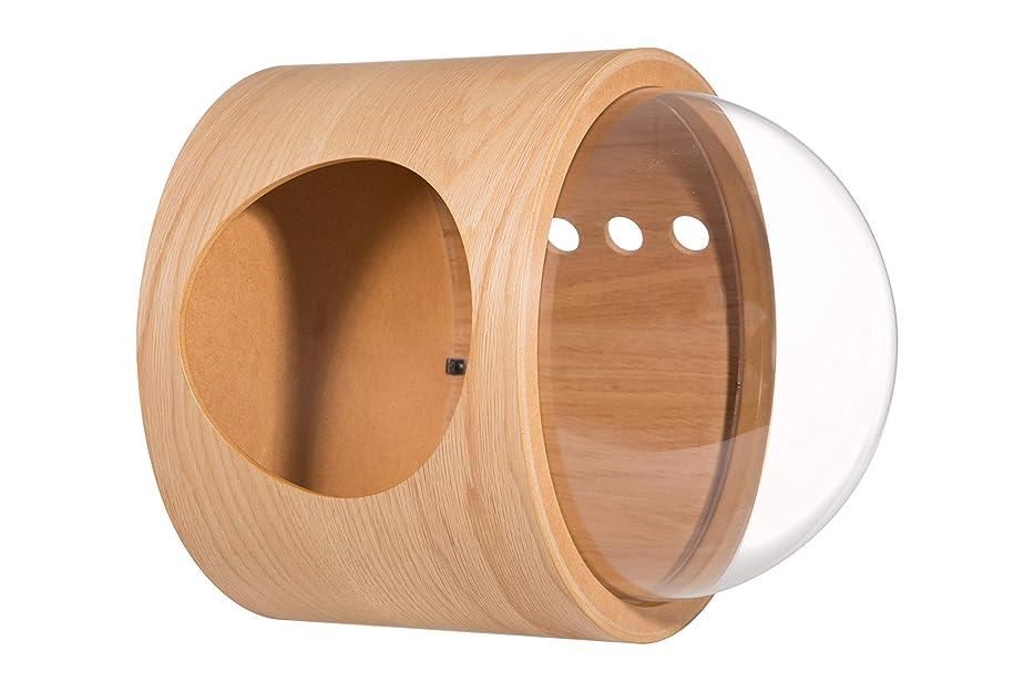 敵富豪水平MYZOO 宇宙船 GAMMA オーク 左開き 猫用ベッド 据え置き 壁付け 寝床 木製 おしゃれ キャットウォーク キャットタワー キャットステップ