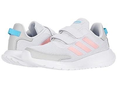 adidas Kids Tensaur Run (Little Kid) (Dash Grey/Glory Pink/Bright Cyan 1) Girl