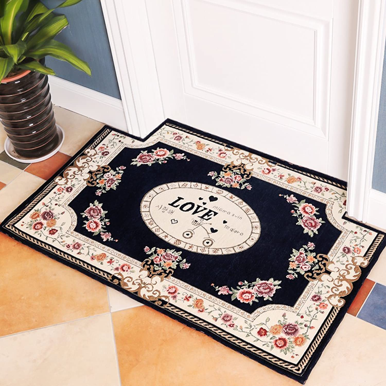 Foot pad door mats water absorption non-Slip living room home bathroom doorway-F 80x120cm(31x47inch)