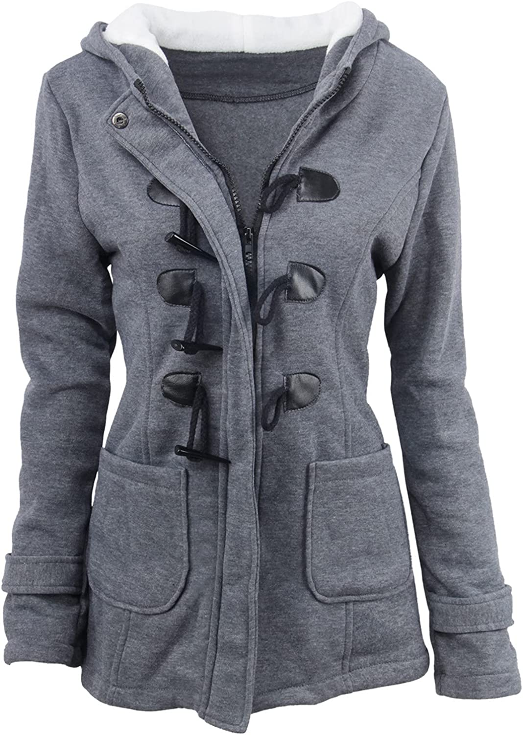Winter Coats for Women Patchwork Solid Long Jackets Plus Size Zip Hooded Long Sleeve Tunics Outerwear