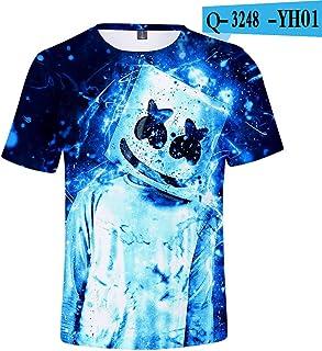 2019 new hot style American DJ marshmello marshmallow Fortnite fortress night short sleeved T-shirt 3D digital printed shirt for men/women